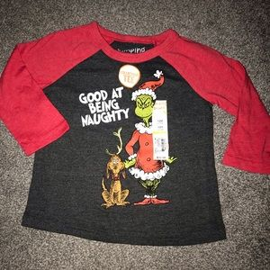 NWT Boys 12 Month Jumping Beans Grinch T Tee Shirt
